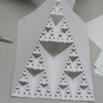 The end result of the Sierpinski triangle activity.